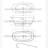 Bañera libre de piedra superficial sólida (PB1069G)