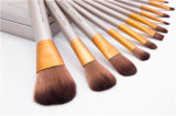 12PCS auf lager natürliches Haar-Berufsverfassungs-Pinsel-Set des Großverkauf-12PCS