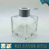 frasco de petróleo de vidro quadrado do aroma 100ml com o tampão de parafuso de lingüeta
