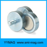 Feiner maschinell bearbeitenkundenspezifischer Neodym-Potenziometer-Magnet mit externem Gewinde
