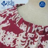 Nuovo vestito del manicotto di fiori da modo lungo rosso del reticolo