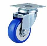 Roulette pivotante en PVC bleu léger de 2 pouces