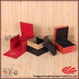 Contenitore di vigilanza di legno laccato colore provvisto di cardini del MDF del nero del quadrato del coperchio