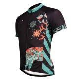 남자의 스포츠를 위한 순환 셔츠는 짧게 저어지를 소매를 단다