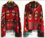 Kaap/Sjaal van de Jacquard van de Ster van de Winter van de dame de de Warme met Retro Nationale Stijl (H22)