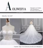 Princess/A Zeile 2017 reales Hochzeits-Kleid mit Appliques