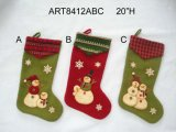 Media del muñeco de nieve de la decoración del hogar de la Navidad del paño grueso y suave de la felpa, 3asst