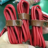 Cable de 4 de la base de la corriente eléctrica del cobre de la PU datos de cuero del USB