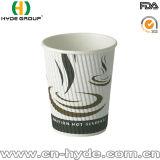Tazas de café populares del papel de empapelar de la ondulación de la venta 8oz