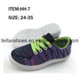 Usine de chaussures occasionnelles de chaussures de toile d'injection d'enfants personnalisée (FFHH-092606)