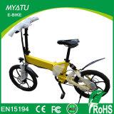 완충기를 가진 250W 가벼운 Foldable E 자전거