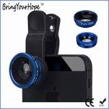 Lente macra ancha de Fisheye del clip 3in1 de la cámara universal del teléfono (XH-LF-001)