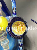 전자 담배 기어 헤드 두 배 Recycler 여과자 검정 비취 두 배는 유리제 연기가 나는 관 유리 관을 재생한다