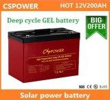 bateria profunda do gel da longa vida do ciclo de 12V 200ah para a manufatura solar de China do armazenamento