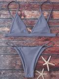 Славная конструкция женщины сплошных цветов одного Swimwear части плюс Swimwear Бикини шнура ви-образност размера