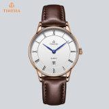 Horloges 72012 van het aangepaste van het Embleem Goedkope van de Prijs van het Horloge Roestvrij staal van Japan Miyota Movt/van het Echte Leer/van Nylon Mensen