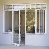 Portelli scorrevoli di alluminio con vetro Tempered, finestra di alluminio