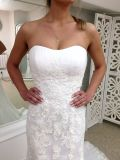 Os plissados formais nupciais de Tulle dos vestidos do laço atam acima da venda por atacado o vestido 2017 de casamento traseiro Lb1929