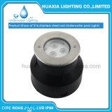 9W lumière sous-marine de piscine de l'acier inoxydable IP68 DEL