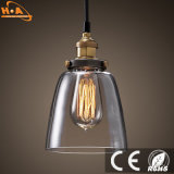 Luz Shaped E27 industrial E24 do pendente do bulbo material de vidro