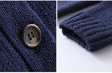 Lamswool 100% scherzt Kind-Kleidung gestrickte Strickjacke-Wolljacke für Jungen