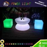 Nachladbare Plastikmöbel geleuchteter LED-Kaffeetisch