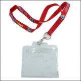Цветастые талрепы полиэфира логоса с карточкой PVC для названного владельца карточки