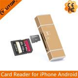 Lightning+Micro USB+USB (YT-R004)のための金属のMicrosd (TF) +SDのカード読取り装置
