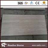 Mármore de madeira da veia do branco chinês para a telha de revestimento/laje