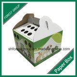 Progettare l'elemento portante per il cliente dell'animale domestico del documento ondulato con la maniglia