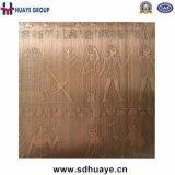 Erstklassige fertige Laser-Radierungs-Edelstahl-Dekoration-Blatt-Platte