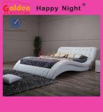 最新の木PUの箱型寝台部屋の家具G1108との革ダブル・ベッドデザイン