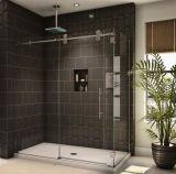 Tempered 목욕탕 Frameless 유리제 미닫이 문
