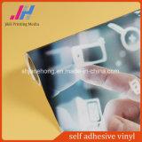 Vinilo auto-adhesivo movible del pegamento gris en el vinilo perforado de la ventana