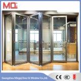 Алюминиевая сползая дверь аккордеони двери складчатости звукоизоляционная
