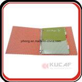 Kundenspezifisches Drucken-hartes Pappdatei-Faltblatt mit Metallring