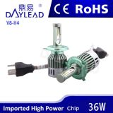 Hi/Lo 광속을%s 가진 알루미늄 물자 H4 심각한 LED 헤드라이트