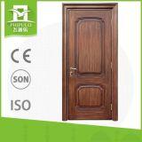 Porte en bois intérieure des prix bon marché de modèle de grille de Chambre
