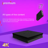 TV Ott Online Stalker van Ipremium I7 IPTV scheidt de Vastgestelde Hoogste Ontvanger met 64 bits van Mickyhop WiFi van de Kern van de Vierling van de Doos DVB 4k voor wereldwijd Gebruikt
