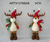 Woodland Christmas Decoration Toy Standing Reindeer