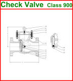 600lb de van een flens voorzien Klep van de Controle van de Schommeling van het Eind (GAH44H)