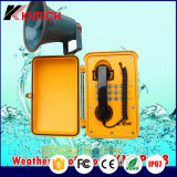 Téléphone imperméable à l'eau de téléphone de prison de téléphone de numérotage automatique pour le système d'adresses public Knsp-08L