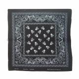 Bandana tradizionale del cotone del quadrato di stampa di Paisley personalizzato commercio all'ingrosso come accessorio del sacchetto