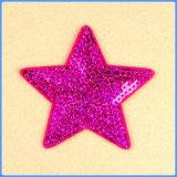 Популярная глянцеватая ткань Applique вышивки Sequin картины звезды