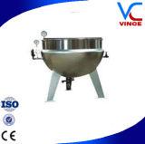 Aço inoxidável que inclina chaleira Jacketed para a mistura do pó de leite