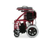 Sillón de ruedas plegable ligero de aluminio del transporte (AL-BL09)