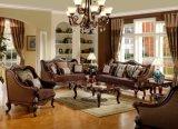 Sofà di legno classico del tessuto per l'insieme domestico tradizionale della mobilia del salone