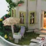 O brinquedo de madeira DIY do Dollhouse encantador de Guangzhou com aniversário do melhor amigo da esfera de vidro deseja a Mini-Luz do sol Alis