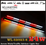 White rosso Amber LED Arrow Stick Warning Directional Light per Police