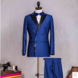 Terno magro de seda dos homens do ajuste de lãs magros feitas sob encomenda do ajuste 100%, ternos do OEM para o homem